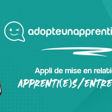 Telecharge l'appli Adopteunapprenti-e.com !